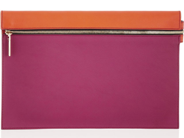 Victoria Beckham clutch - Radiant Orchid