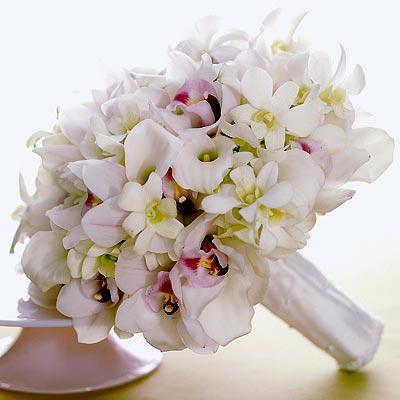 Classic white orchid bouquet