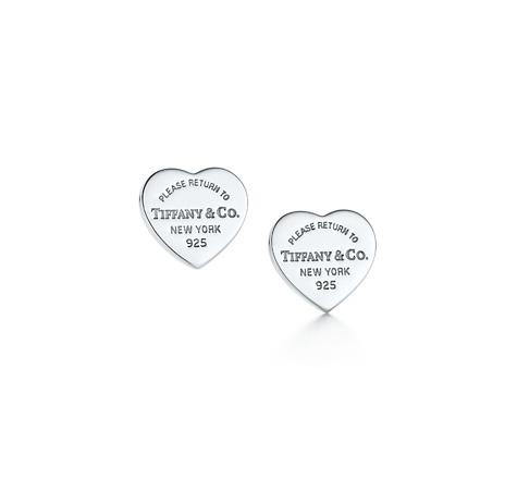 Mini heart tag earrings